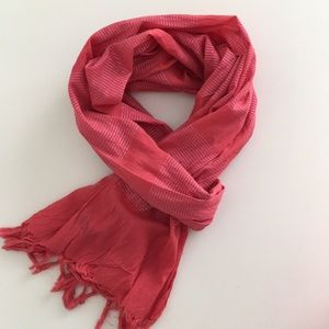 J. Crew Metallic Pink/Orange Scarf
